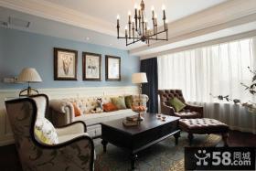 美式风格8-平米公寓设计效果图大全