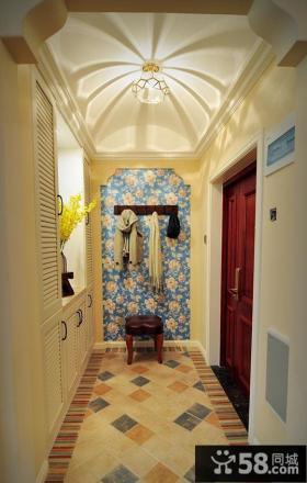 美式复古风格三居室设计效果图