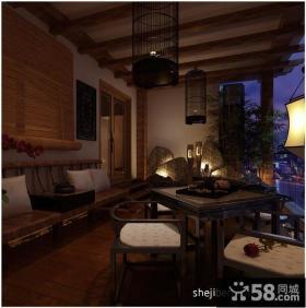 中式阳台吊顶装修效果图大全2012图片