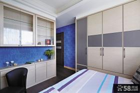 简约时尚卧室组合柜图片