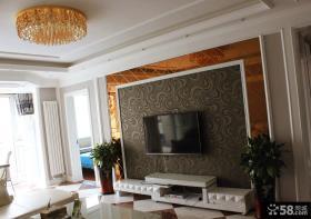 简约欧式客厅电视背景墙装饰效果图