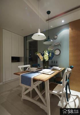 美式家装设计一居室餐厅图片