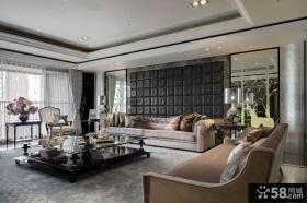 高档别墅客厅软装饰图片