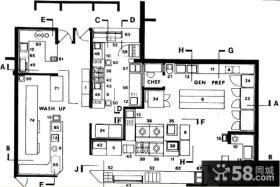 饭店厨房平面图设计