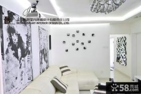 现代风格客厅沙发背景墙