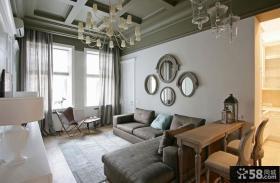 美式小客厅装修效果图大全2014