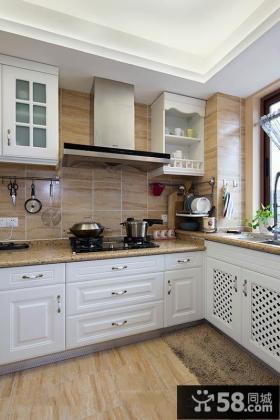 美式设计厨房图片大全2015