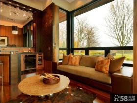 美式乡村别墅客厅飘窗装修效果图