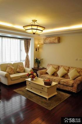 美式田园风格两室一厅装修效果图片