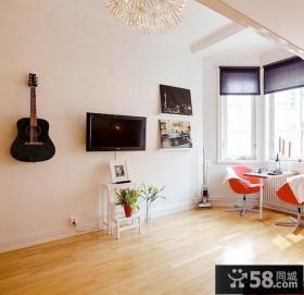 21平小户型电视背景墙图片