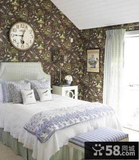 小户型卧室壁纸装修效果图