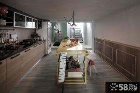 乡村美式风格厨房室内设计效果图