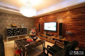家庭装修客厅电视背景墙设计图片