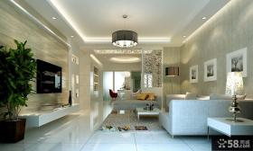 优质简约客厅电视背景墙装修效果图大全2013图片