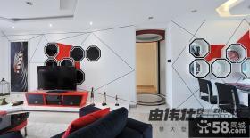 现代风格室内电视背景墙设计