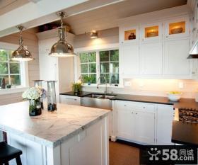 复式楼厨房整体橱柜装修效果图