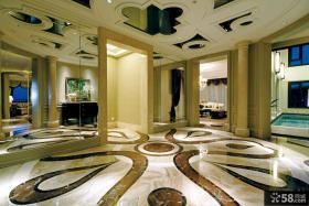 别墅走廊地砖效果图片
