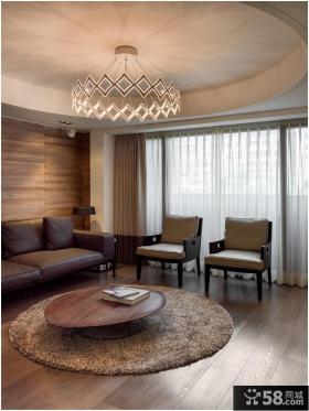 温馨现代客厅装潢案例