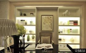 美式家庭书房装饰画效果图
