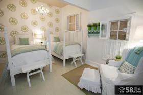 欧式双人房卧室装修效果图