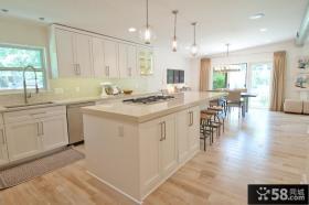 整体橱柜图片 简约开放式厨房装修效果图