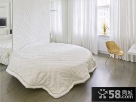 时尚创意两室两厅卧室窗帘装修效果图大全2014图片