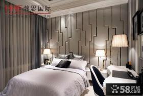 现代欧式风格卧室背景墙装修效果图