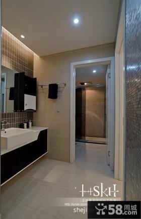 现代复式楼卫生间浴室装修装修效果图