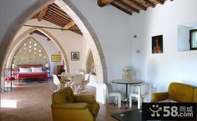 意大利的乡间复式楼阁楼卧室装修效果图大全2014图片