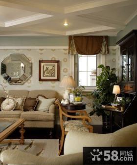 美式风格家居客厅家具图片