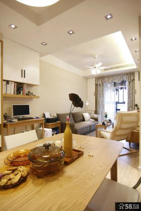 日式简约家居客厅纸面石膏板吊顶图片