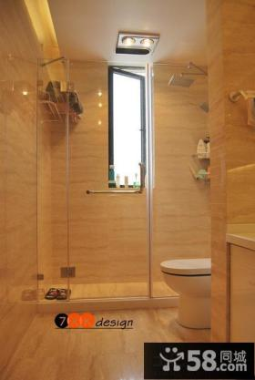 现代风格卫生间浴室玻璃门装修效果图