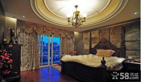 美式风格二居室卧室吊顶装修效果图