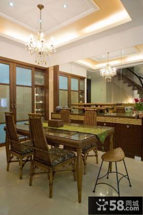 中式江南风格别墅餐厅设计案例