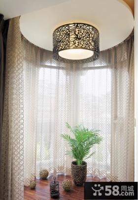 现代室内窗帘设计装修效果图