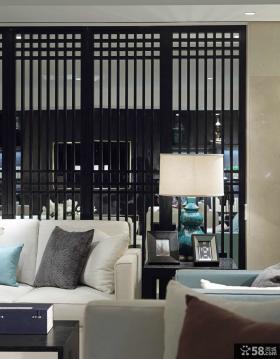 现代简约别墅客厅隔断装修案例