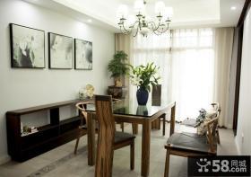 现代中式风格餐厅家居装饰效果图片