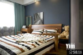 北欧风格90平米两室两厅卧室效果图