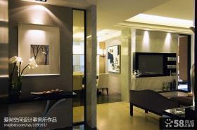 现代客厅玄关装修效果图片