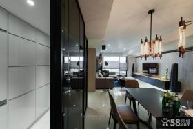 日式家庭设计餐厅吊灯效果图