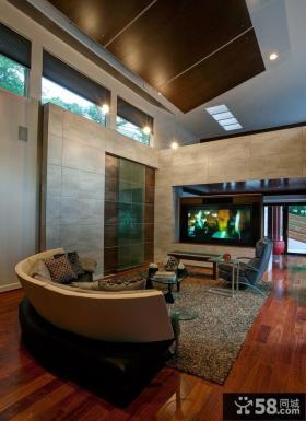 美式风格客厅液晶电视背景墙装修效果图