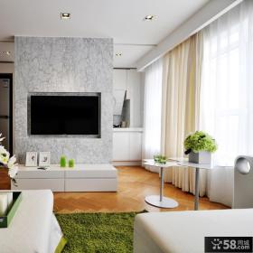 混搭风格室内客厅电视背景墙图片欣赏大全