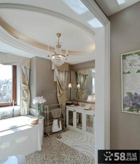 欧式奢华的别墅卫生间装修效果图大全2014图片