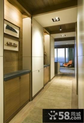 现代室内装修设计走廊吊顶