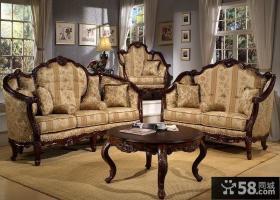 欧式古典风格客厅沙发图片