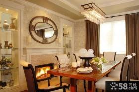 130平米三室两厅两卫欧式客厅装修效果图