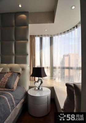 卧室转角飘窗设计效果图欣赏