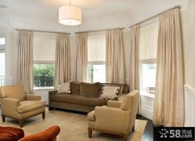 美式风格客厅窗帘图欣赏