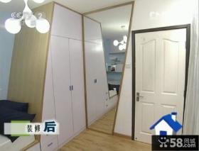 交换空间20平米小户型卧室背景墙灯具装修效果图