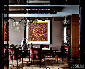 现代美式风格两室两厅餐厅装修效果图片